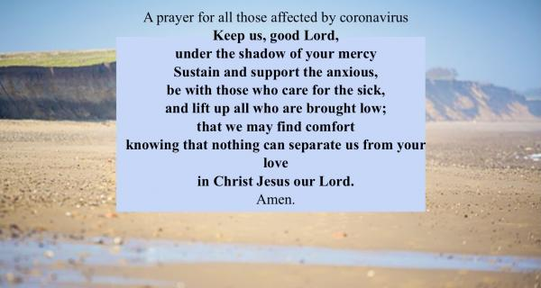 Prayer for those affected by coronavirus